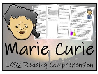LKS2 Science - Marie Curie Reading Comprehension Activity