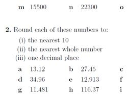 Rounding numbers to the nearest 10, 100, 1000, whole number and 1 ...