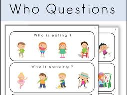 Who Questions Special Education Worksheets