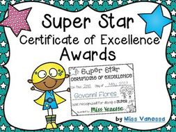 super star award certificates promote positive behavior in your