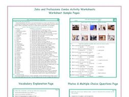 Jobs and Professions Combo Activity Worksheets