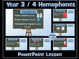 Year 3 and 4 Homophones / Near Homophones