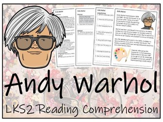 LKS2 Andy Warhol Reading Comprehension Activity