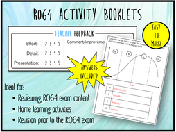 LO3 R064 Activity Booklet - Ideal Homework! (Cambridge National in Enterprise & Marketing)