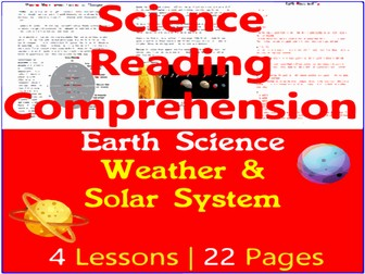 Earth Science Comprehension Passages   Weather & Solar System   Grade 5-6