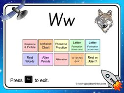 The letter 'w' PowerPoint (Phase 3)