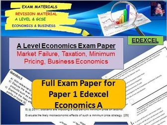 Microeconomics Exam Paper: A Level Economics