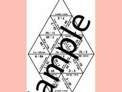 Simplifying Ratios 3 – Math puzzle
