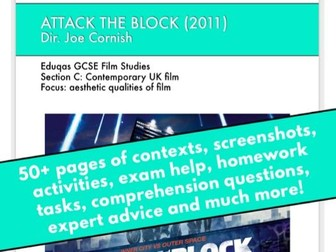 Attack the Block GCSE Film Studies scheme of work / revision / viewing booklet / e-book