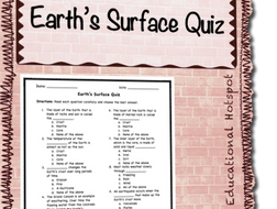 Earth's Surface Quiz