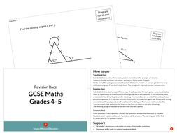 GCSE Maths Revision Race (Grades 4-5)