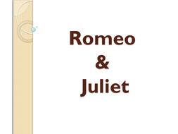 Romeo and Juliet Medium Term Lessons and resources