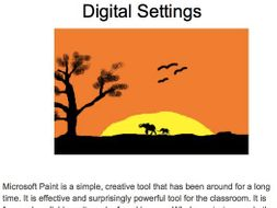 Digital Art unit of work KS1 and LKS2