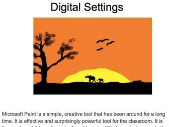Digital Art unit of work KS1 and LKS2