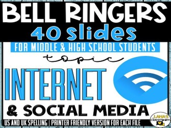 Bell Ringers Questions | Topic: Internet | Middle and High School