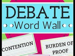 Debate Vocabulary Word Wall
