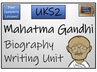 UKS2 History - Mahatma Gandhi Biography Writing Activity
