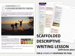 GCSE English Language 9-1 Scaffolded Descriptive Writing - Whole Text Exercise