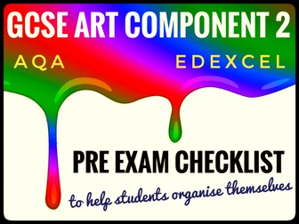GCSE ART. Component 2 Final Outcome Planning Checklist