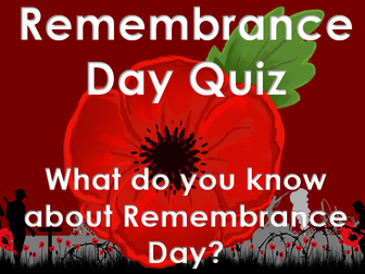 Remembrance Day 2016: Quiz - What do you know about Remembrance Day?