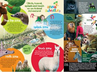 ZSL London Zoo leaflet comprehension KS2