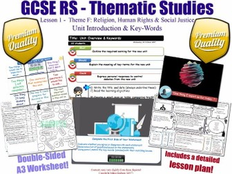 Religion, Human Rights & Social Justice - L1/10 [GCSE RS - Thematic Studies F - Christian Views] KS4