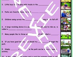 Parks 3 Photo Worksheet Set