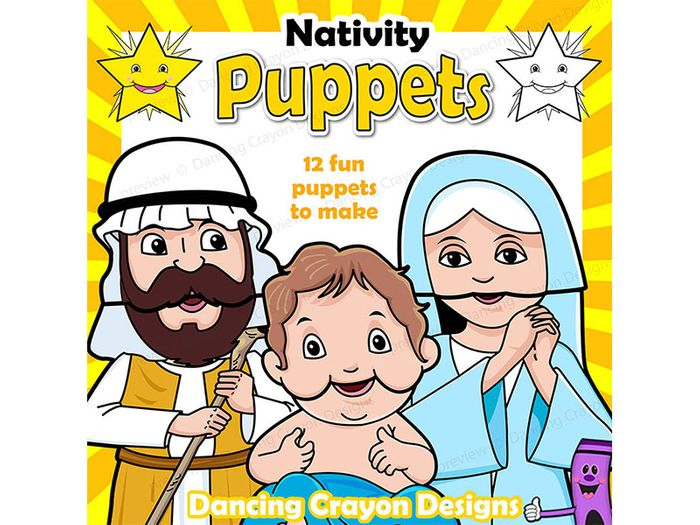 image regarding Nativity Printable titled Xmas Craft Recreation Trip Printable Paper Bag Nativity Puppets