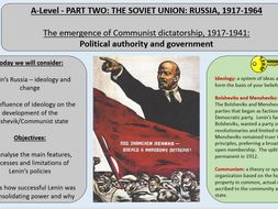 1. Political Authority and Government - AQA A-Level 1H Tsarist and Communist Russia 1855-1964