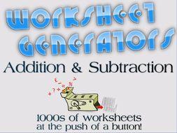 ks column addition and subtraction  worksheet generator by  ks column addition and subtraction  worksheet generator