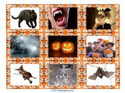 Halloween Card Game 4 Pages = 36 Cards