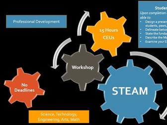 STEAM - Online Workshop 15 Hours Continuing Education Professional Development