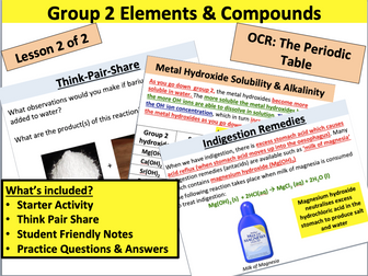 AS Chemistry: Group 2 Compounds