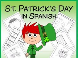 St. Patrick's Day in Spanish - vocab. sheets, wks, matching game