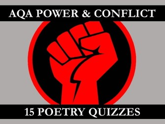 Power & Conflict Poetry Quizzes (AQA)