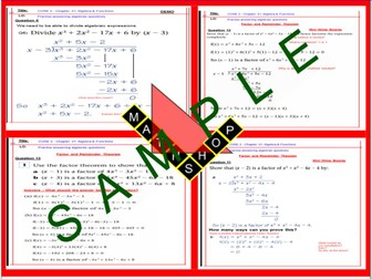C2 AS Level Maths Core 2 - Chapter 1 Factor and Remainder Theorem
