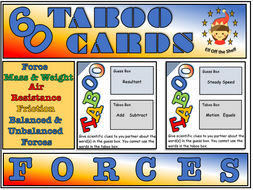 Forces - 60 Taboo Cards KS3