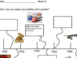 Co Operative Learning Activity History Of Toys Timeline Ks1 By