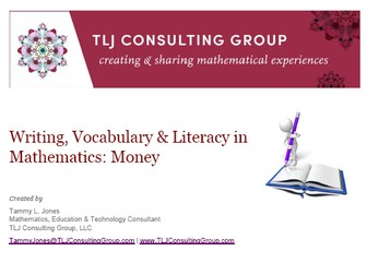 Writing, Vocabulary & Literacy in Mathematics: Money