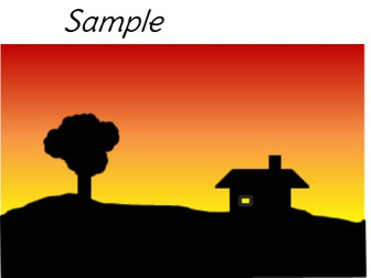 Creating a Sunset Silhoutte in Microsoft Word