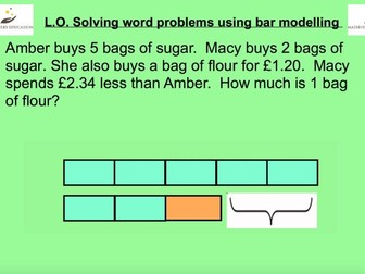 Bar Modelling To Solve SAT Style Word Problems