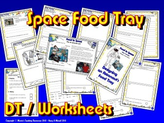 DT/ KS1&2 / Packaging / Food Tray for an Astronaut