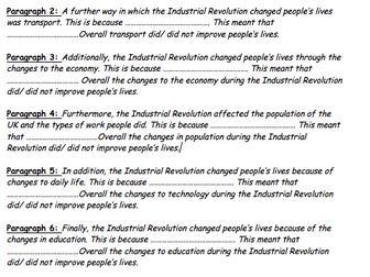 Industrial Revolution: Essay assessing the positives/ negative impacts of the Industrial Revolution