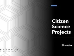 Citizen Science projects - chemistry