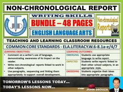 NON-CHRONOLOGICAL REPORT WRITING - CLASSROOM RESOURCES - BUNDLE