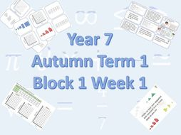 Planning for White Rose Maths Secondary  Autumn Term 1 Block 1 Week 1