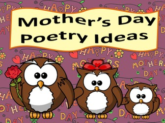 Mother's Day Poetry Ideas