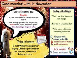 Morning Challenge Slides (November)