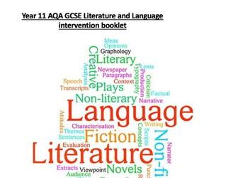 AQA LITERATURE 9-1 COMPLETE INTERVENTION/HOMEWORK BOOKLET