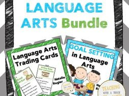 Language Arts Bundle: Trading Cards, Assessment, and Goal Setting Templates